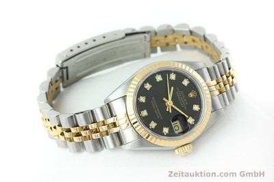 ROLEX LADY OYSTER DATEJUST GOLD /STAHL DAMENUHR DIAMANTEN REF 69173 VP: 9200,- Euro [152502]
