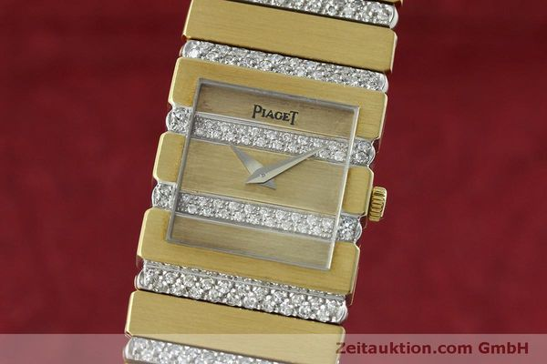 PIAGET LADY 18K (0,750) GOLD POLO DIAMANTEN DAMENUHR 8131 C 705 VP: 52000,- Euro [152507]