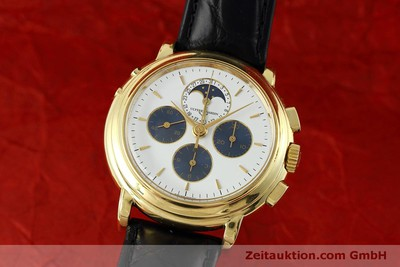 ULYSSE NARDIN CHRONOGRAPH 18 CT GOLD MANUAL WINDING KAL. LWO 2612 LP: 17800EUR [152508]