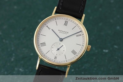 NOMOS LUDWIG 18 CT GOLD MANUAL WINDING KAL. ETA 7001 LP: 5420EUR [152518]