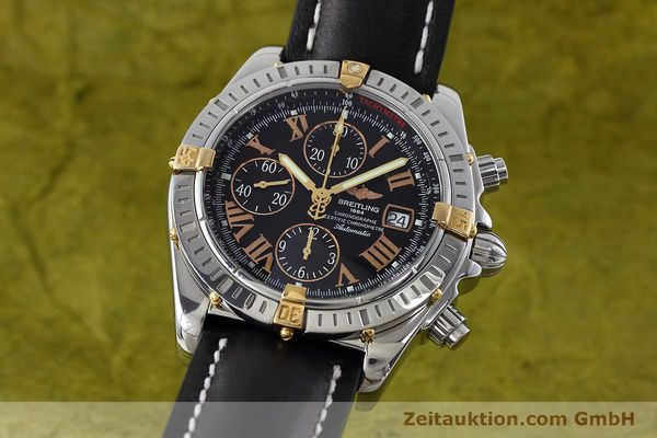 BREITLING EVOLUTION CHRONOGRAPHE ACIER / OR AUTOMATIQUE KAL. B13 ETA 7750 LP: 7300EUR [152543]