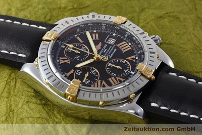 BREITLING EVOLUTION CHRONOGRAPH STEEL / GOLD AUTOMATIC KAL. B13 ETA 7750 LP: 7300EUR [152543]