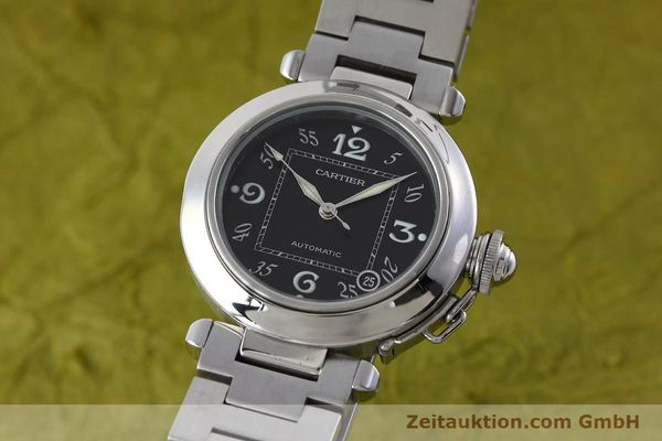 Used luxury watch Cartier Pasha steel automatic Kal. 049 ETA 2892A2 Ref. 2324  | 152576 04