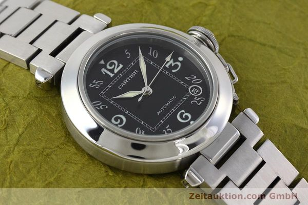 Used luxury watch Cartier Pasha steel automatic Kal. 049 ETA 2892A2 Ref. 2324  | 152576 14
