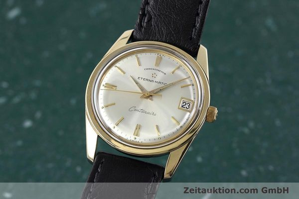 Used luxury watch Eterna Centenaire steel / gold automatic Kal. 1439U VINTAGE  | 152595 04