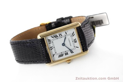CARTIER TANK 18 CT GOLD QUARTZ KAL. 90.09 [152611]