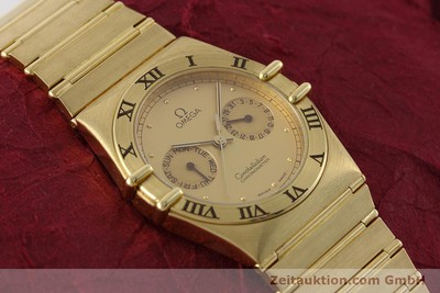 OMEGA CONSTELLATION 18K GOLD DAY-DATE CHRONOMETER HERRENUHR VP: 27200,- EURO [152612]