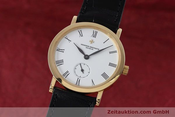 VACHERON CONSTANTIN 18K (0,750) GOLD HERRENUHR MEDIUM HANDAUFZUG VP: 18500,- Euro [152613]