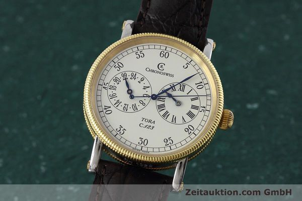 CHRONOSWISS TORA ACIER / OR AUTOMATIQUE KAL. 123 LP: 5200EUR [152643]
