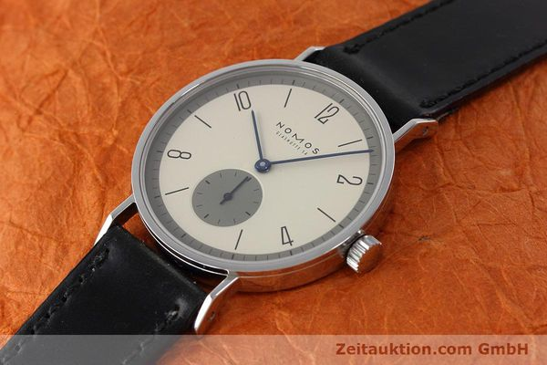 Used luxury watch Nomos Tangente steel manual winding Kal. ETA 7001  | 152651 01
