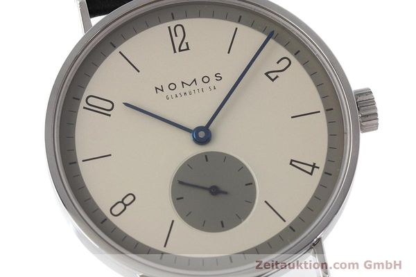Used luxury watch Nomos Tangente steel manual winding Kal. ETA 7001  | 152651 02