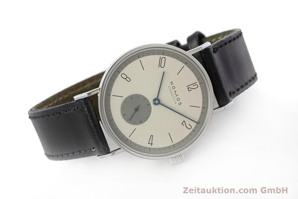 Used luxury watch Nomos Tangente steel manual winding Kal. ETA 7001  | 152651 03