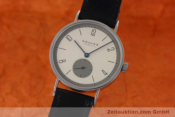 Used luxury watch Nomos Tangente steel manual winding Kal. ETA 7001  | 152651 04