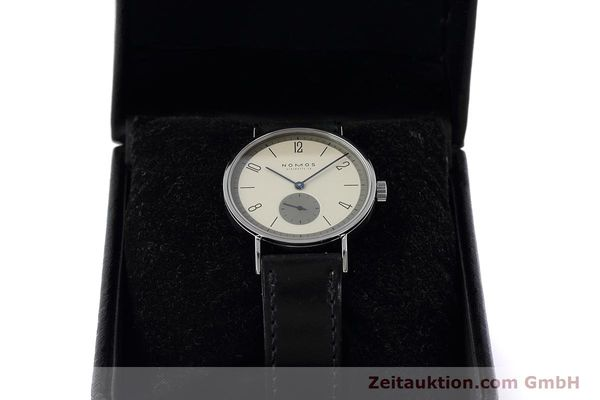 Used luxury watch Nomos Tangente steel manual winding Kal. ETA 7001  | 152651 07
