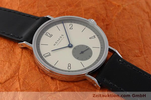 Used luxury watch Nomos Tangente steel manual winding Kal. ETA 7001  | 152651 14