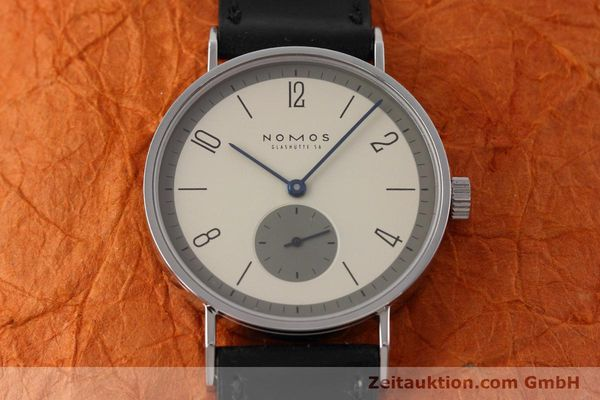 Used luxury watch Nomos Tangente steel manual winding Kal. ETA 7001  | 152651 15