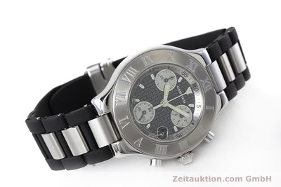 CARTIER CHRONOSCAPH 21 CHRONOGRAPH STEEL QUARTZ KAL. ETA 251.272 [152652]