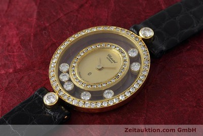 CHOPARD HAPPY DIAMONDS 18 CT GOLD QUARTZ KAL. FHF 101.001 LP: 12860EUR [152674]