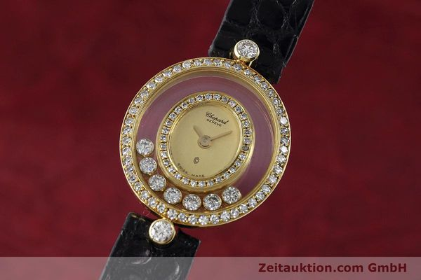CHOPARD LADY 18K GOLD HAPPY DIAMONDS DAMENUHR DIAMANTEN REF 5181 VP: 12890,-EUR [152674]