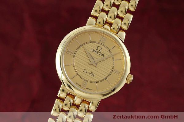 OMEGA DE VILLE 18 CT GOLD QUARTZ KAL. 1471 LP: 13700EUR [152684]