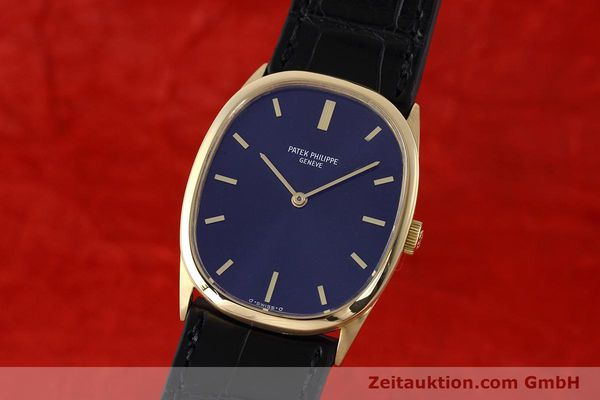 PATEK PHILIPPE 18K GOLD ELLIPSE D´OR HANDAUFZUG 3546 MEDIUM VP: 19930,- EURO [152693]