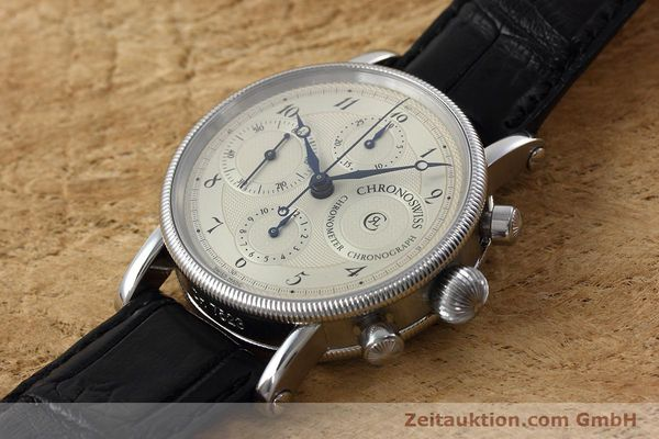 Used luxury watch Chronoswiss * chronograph steel automatic Kal. 754 Ref. CH7523  | 152697 01