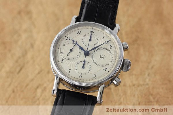 Used luxury watch Chronoswiss * chronograph steel automatic Kal. 754 Ref. CH7523  | 152697 04
