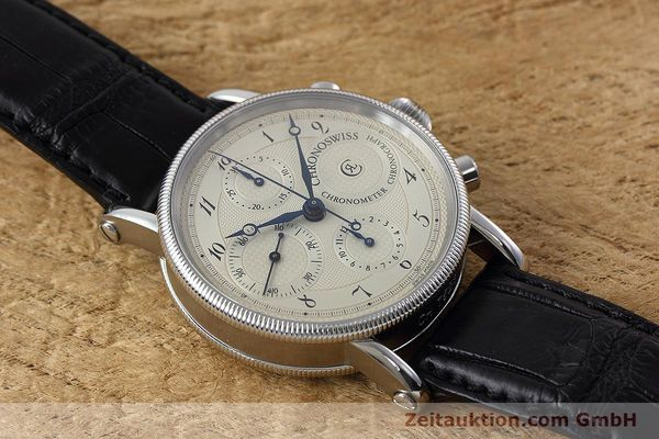 Used luxury watch Chronoswiss * chronograph steel automatic Kal. 754 Ref. CH7523  | 152697 13