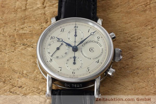 Used luxury watch Chronoswiss * chronograph steel automatic Kal. 754 Ref. CH7523  | 152697 14