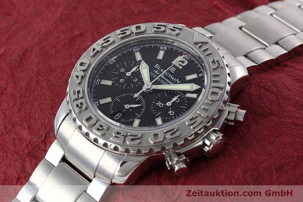 Used luxury watch Blancpain Air Command chronograph steel automatic Kal. F185  | 152700 01