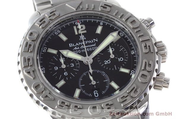 Used luxury watch Blancpain Air Command chronograph steel automatic Kal. F185  | 152700 02
