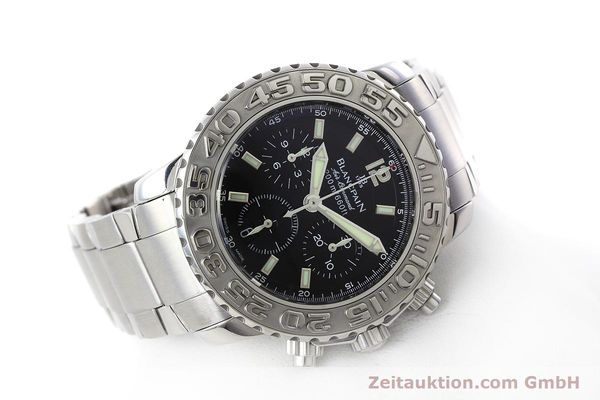 Used luxury watch Blancpain Air Command chronograph steel automatic Kal. F185  | 152700 03