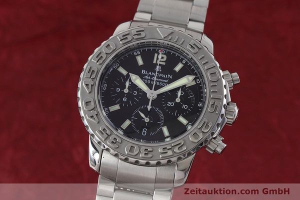 Used luxury watch Blancpain Air Command chronograph steel automatic Kal. F185  | 152700 04