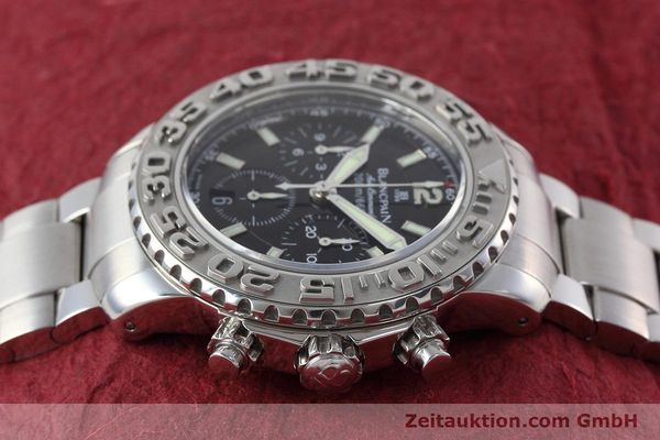 Used luxury watch Blancpain Air Command chronograph steel automatic Kal. F185  | 152700 05