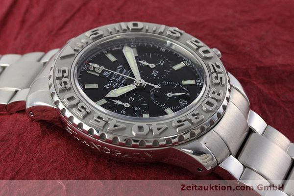 Used luxury watch Blancpain Air Command chronograph steel automatic Kal. F185  | 152700 13