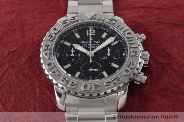 Used luxury watch Blancpain Air Command chronograph steel automatic Kal. F185  | 152700 14