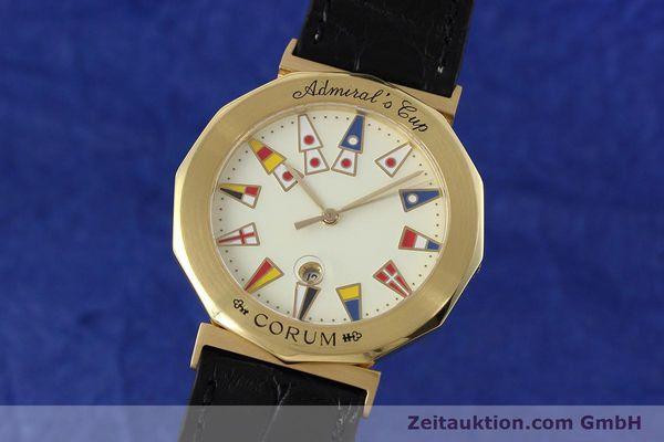 CORUM ADMIRALS CUP 18 CT GOLD QUARTZ KAL. 231000 ETA 956112 LP: 17000EUR [152711]