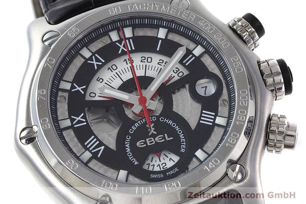 Used luxury watch Ebel 1911 chronograph steel automatic Kal. 139 Ref. E9139L72  | 152717 02