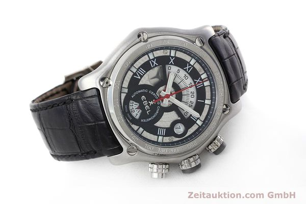 Used luxury watch Ebel 1911 chronograph steel automatic Kal. 139 Ref. E9139L72  | 152717 03