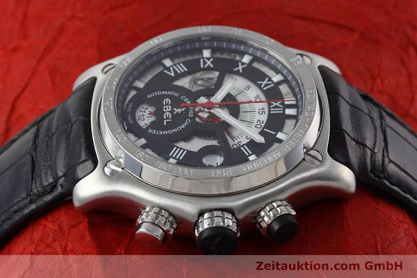 Used luxury watch Ebel 1911 chronograph steel automatic Kal. 139 Ref. E9139L72  | 152717 05