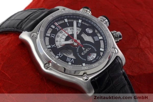 Used luxury watch Ebel 1911 chronograph steel automatic Kal. 139 Ref. E9139L72  | 152717 13