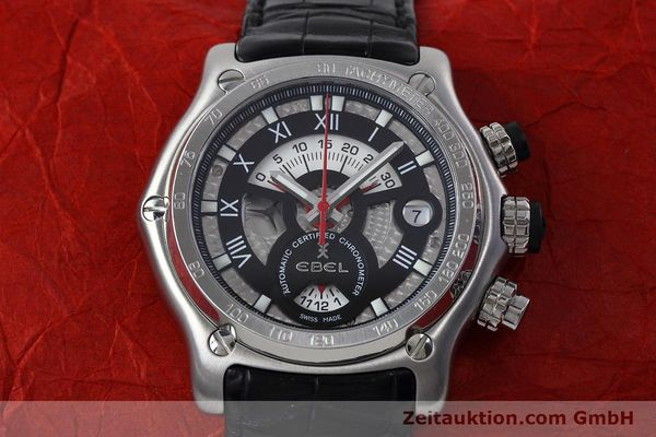 Used luxury watch Ebel 1911 chronograph steel automatic Kal. 139 Ref. E9139L72  | 152717 14