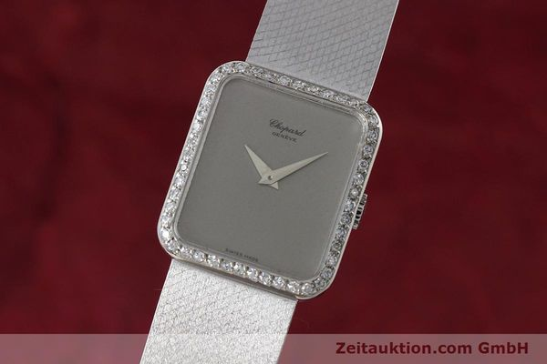 CHOPARD LADY 18K (0,750) WEISS GOLD DAMENUHR DIAMANTEN HANDAUFZUG VP: 19750,- Euro [152742]