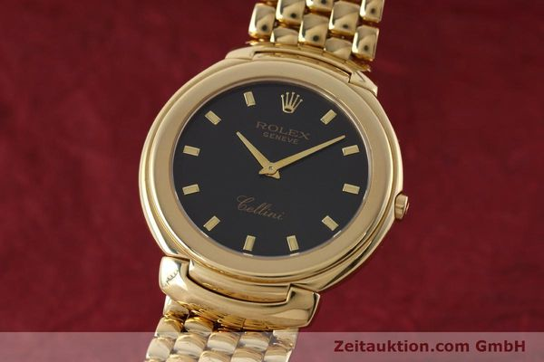 ROLEX 18K (0,750) GOLD CELLINI HERRENUHR REF. 6623 MIT DAMIER-BAND LP: 13350,- Euro [152801]