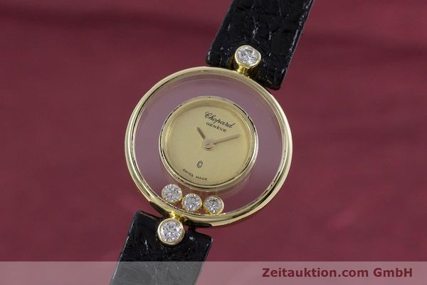 CHOPARD HAPPY DIAMONDS 18 CT GOLD QUARTZ KAL. ETA 201.001 [152818]