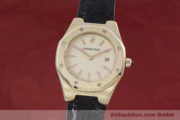 AUDEMARS PIGUET LADY 18K (0,750) GOLD ROYAL OAK DAMENUHR D66579 VP: 26000,- EURO [152828]