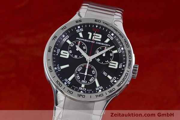 PORSCHE DESIGN FLAT SIX CHRONOGRAPH STEEL QUARTZ KAL. ETA 251.261 LP: 3750EUR [152856]
