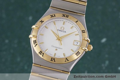 OMEGA CONSTELLATION STAHL / GOLD HERRENUHR KLASSIKER DATUM VP: 3220,- EURO [152888]