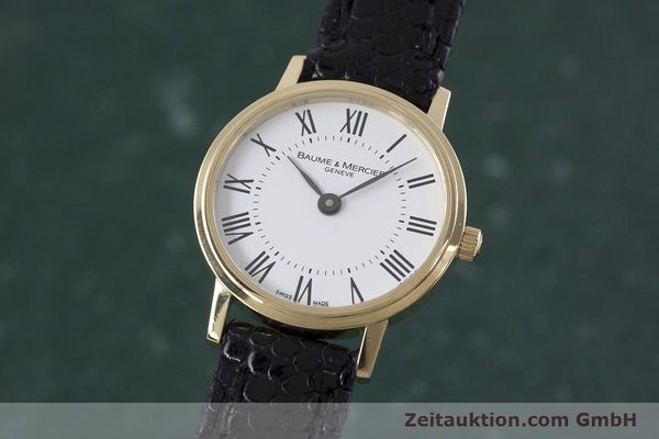 BAUME & MERCIER LADY 18K (0,750) RONDE GOLD DAMENUHR VP: 6300,- EURO [152904]