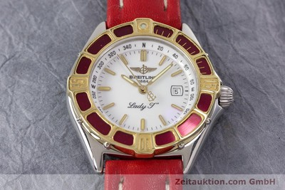 BREITLING LADY J CLASS STAHL / GOLD DAMENUHR TOP D52065 VP: 2290,- EURO [152937]